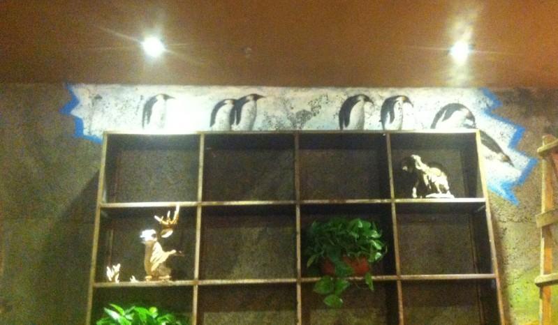 这个咖啡厅的主题是野生动物